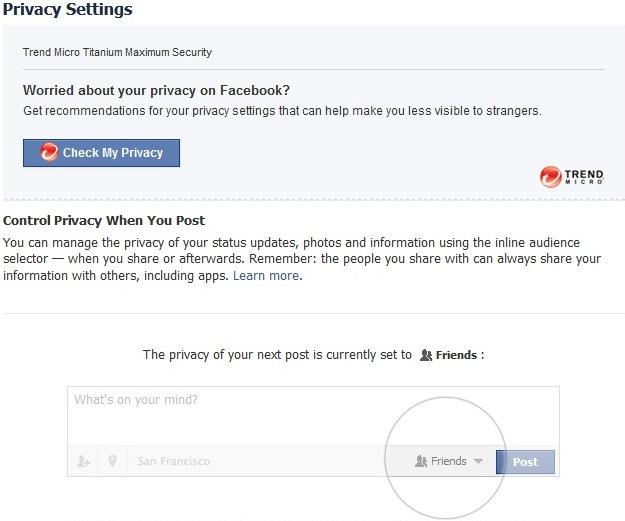 Facebook privacy can be checked easily.