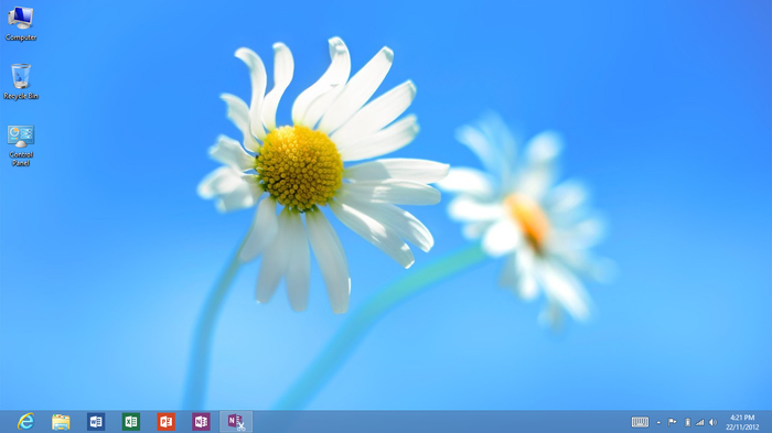The desktop component of Windows RT runs as its own app on the system.