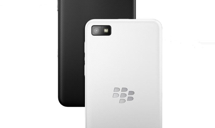 The BlackBerry Z10 will be available in black and white models.