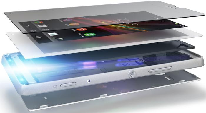 """Sony claims the Xperia SP uses a """"precision-crafted co-moulded aluminium frame""""."""