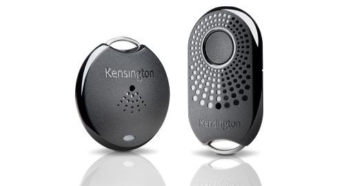The Kensington Proximo tag (left) and key fob (right).