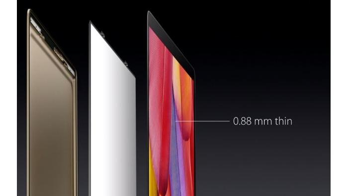 Redesigned screen technology has enabled the lid to be thinner.