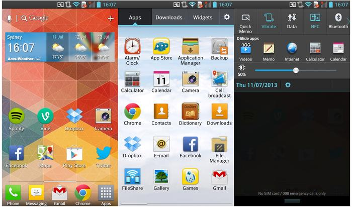 We aren't a fan of the overall look and feel of LG's UI, but this is a personal preference.