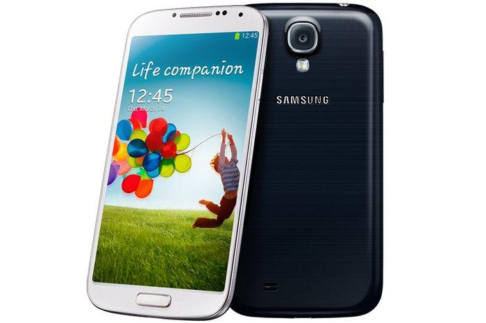 The Samsung Galaxy S4.