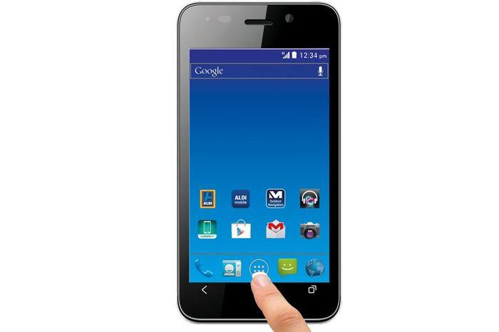 The Medion E4002 smartphone, which goes on sale from Saturday, 2 November.