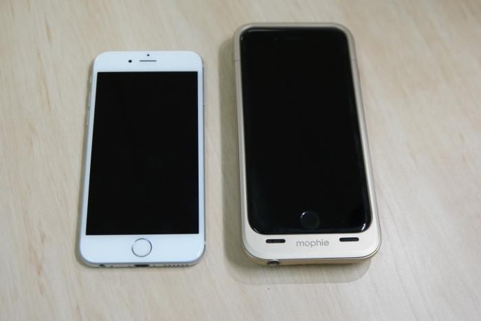 Size comparison with a naked iPhone 6.