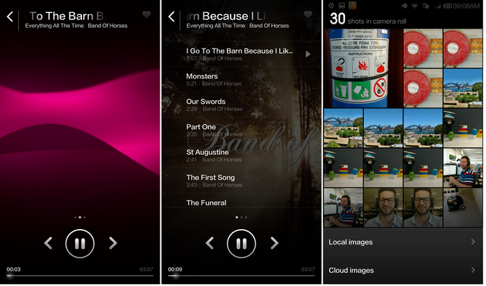 One of the best designed music players and the Mi4's gallery