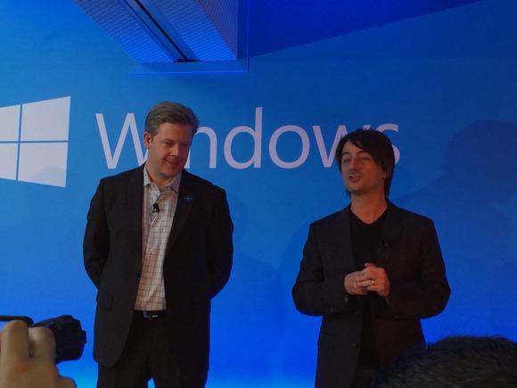 Belfiore, right, is Microsoft's corporate vice president and manager for Windows Phone Program Management.