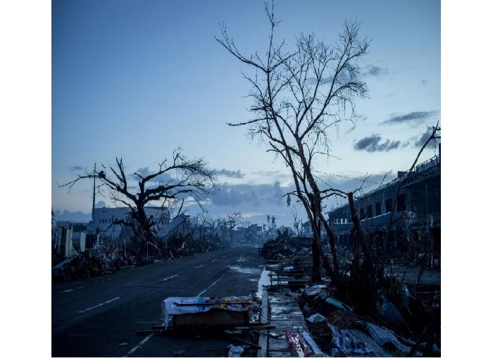 One of Chris McGrath's first-prize-winning images of the devastation caused by Typhoon Haiyan.
