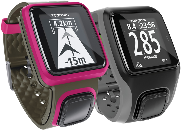 The TomTom Multi-Sport (right).