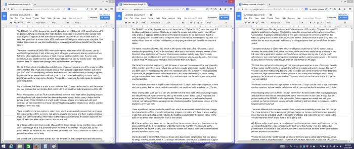 Three Google Docs taking up the width of the screen.