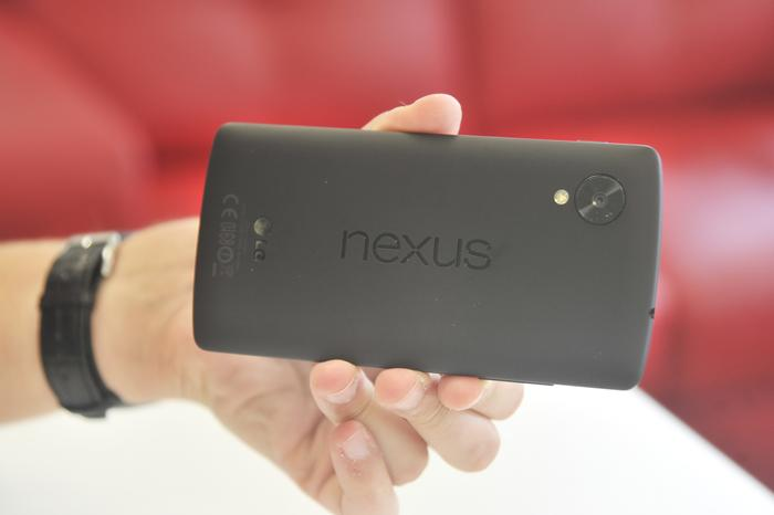 We particularly like the Nexus 5's soft, almost rubber-like feel on the back.