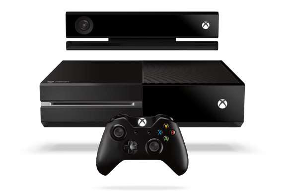 The Xbox One family: console, Kinect and controller.