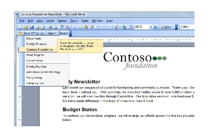 Microsoft Office Live Workspaces