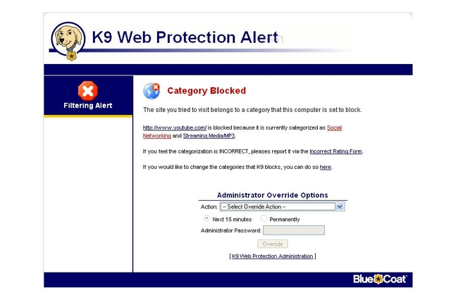 Blue Coat Systems K9 Web Protection