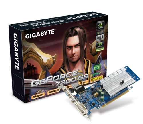 Gigabyte GeForce 7200 GS (GV-NX72G512E2)