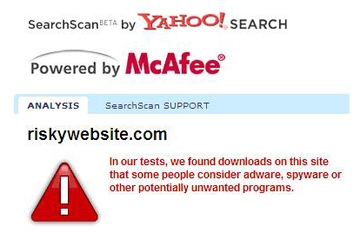 McAfee Australia Site Advisor with Secure Search